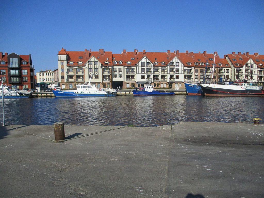ustka port, polskie kurorty nad morzem
