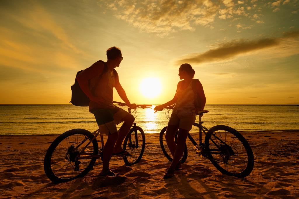 szlaki rowerowe w polsce - na plaży