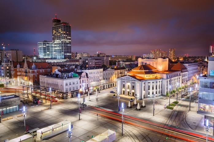 Widok na Katowice Nocą