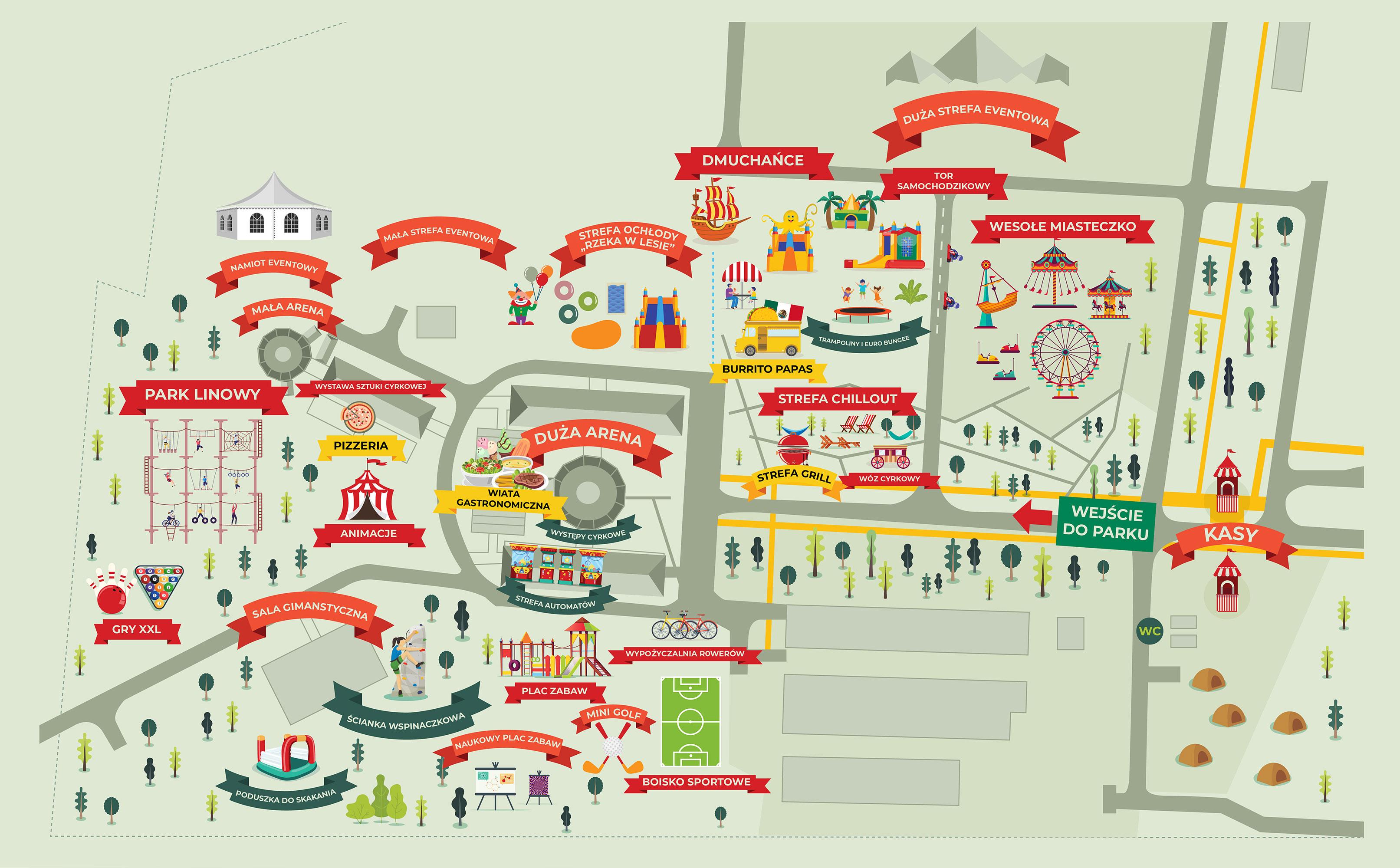 Mapa Parku Rozrywki Julinek